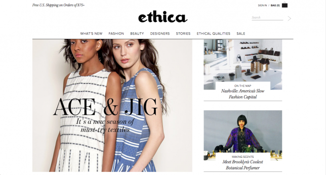 Sustainable Fashion Online Shop_ethica