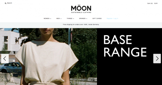 MOEON sustainable clothing