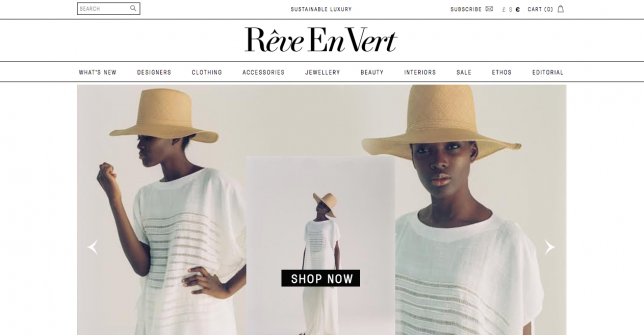 reve en vert sustainable luxury fashion